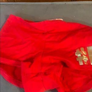 New V Secret Pink boyfriend shorts #Elfie XS NWT